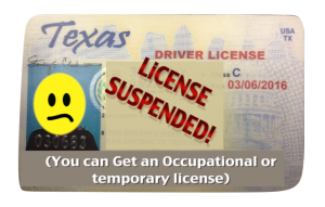 When your license is suspended, you can get a temporary license called an occupational license.