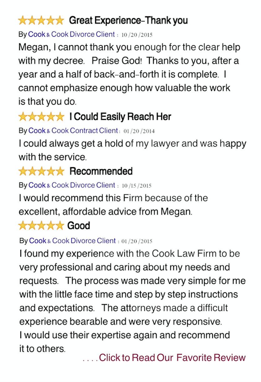 cook and cook law firm reviews
