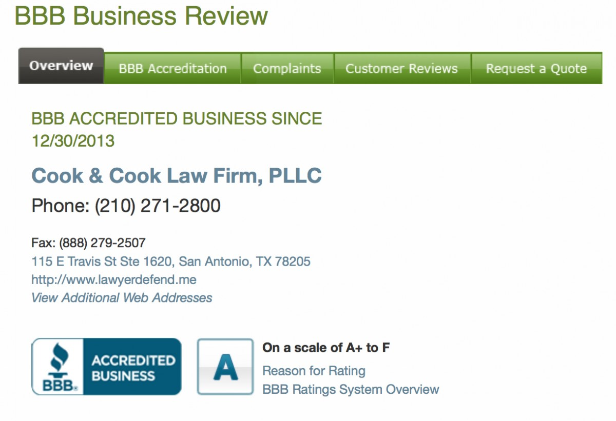 Cook and cook law firm Review