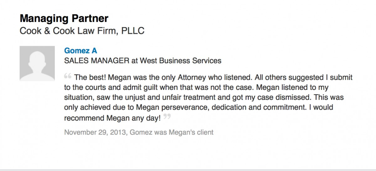 megan cook attorney review