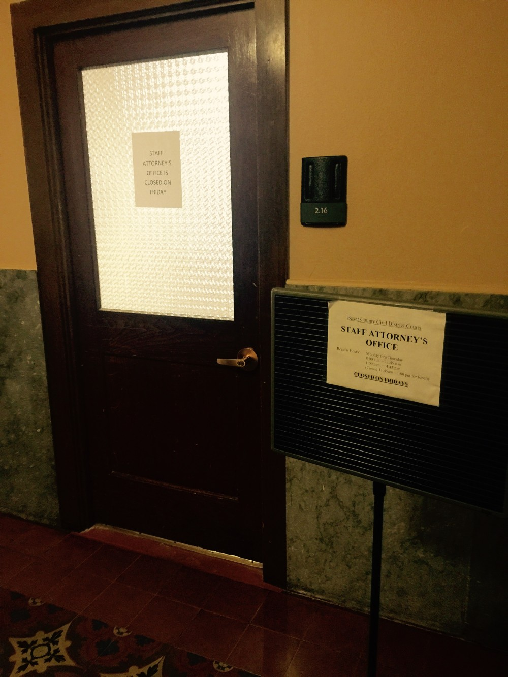 Bexar County Staff Attorney Office Location